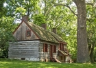The Moon-Williamson Log House in Historic Fallsington.