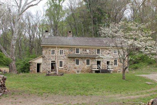 Plantation farmhouse in Ridley Creek State Park